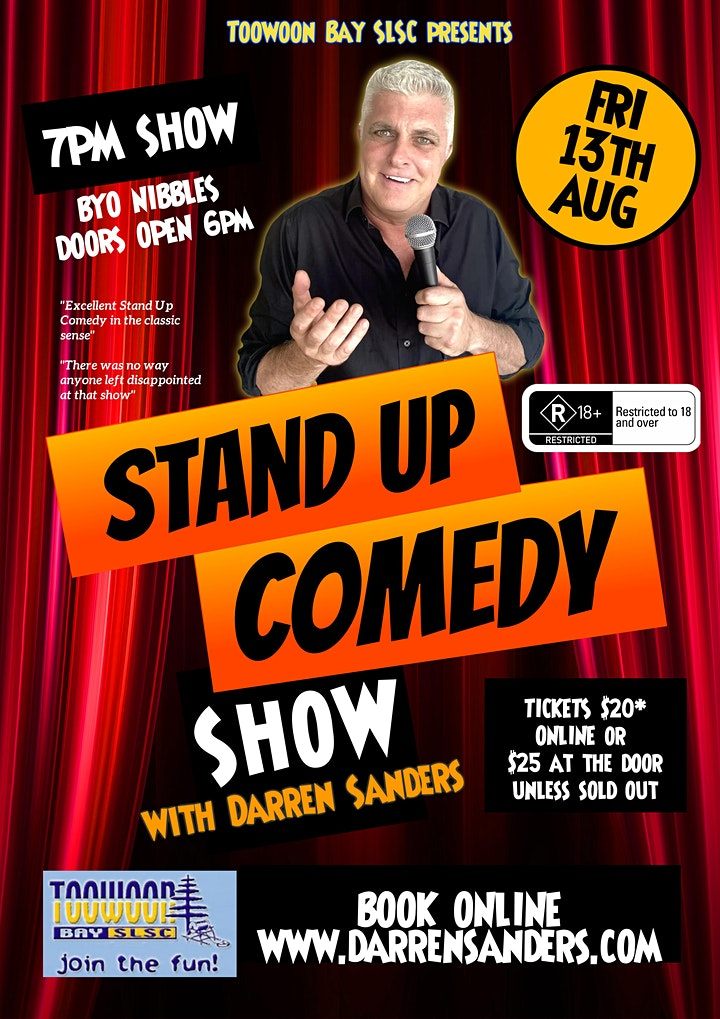 Comedy Show at Toowoon Bay SLSC with Darren Sanders image