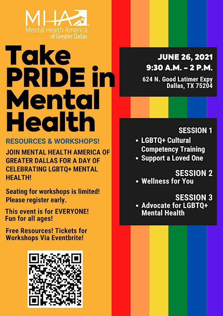 Take PRIDE in Mental Health image