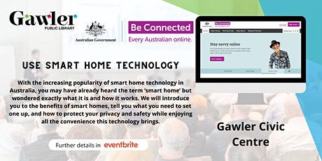 Be Connected Webinar - How to use smart home technology tickets