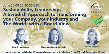 Sustainability Leadership, A Swedish Approach to Transforming your Company, tickets