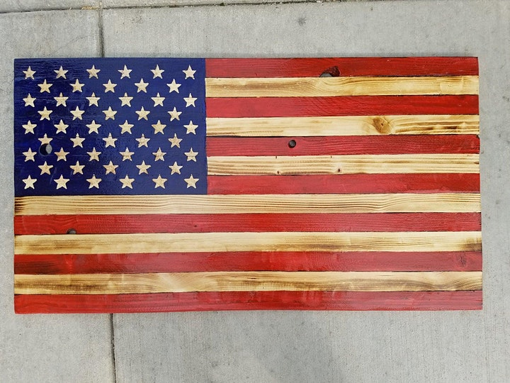 Build your own wooden American Flag at Fisk Avenue image