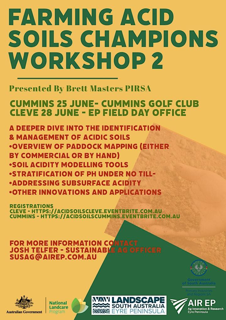 Farming acid soils champions  - Workshop 2 image