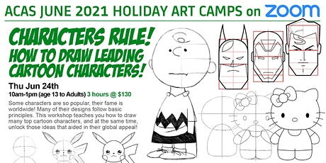 CHARACTERS RULE! How to draw leading cartoon characters! tickets