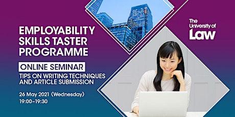Employability Skills Taster Programme (Medium: English) tickets