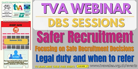 DBS Webinar - Legal duty and when to refer tickets