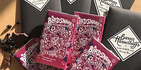 Chocolate Tasting Session: featuring Birdsnake & Baron Hasselhoff Chocolate tickets