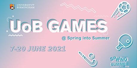 UoB Games: Coached Beginner Tennis tickets