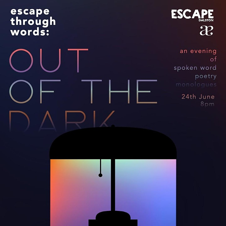 """""""Escape Through Words"""" presented by Anthroɐlay and Escape image"""