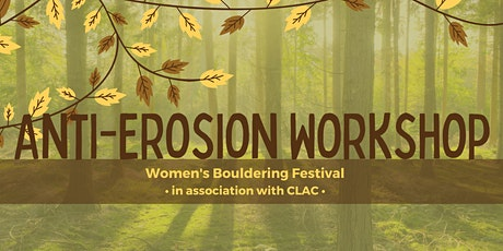 Anti-Erosion Workshop with the ONF | Women's Bouldering Festival 2021 tickets