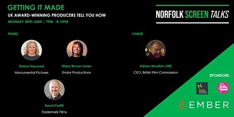 Norfolk Screen: Getting It Made - UK Award Winning producers tell you how tickets