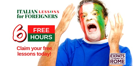 6 Free hours of Italian lessons for all levels tickets