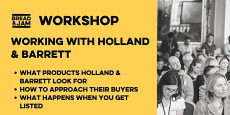 Working with Holland & Barrett tickets
