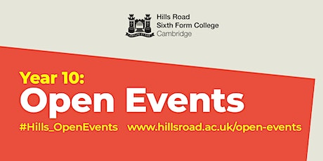 Hills Road Open Event: Purbeck Road entrance. Entry between 10.30am to 11am tickets