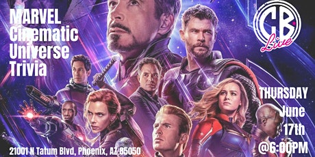 Marvel Cinematic Universe Trivia at CB Live tickets