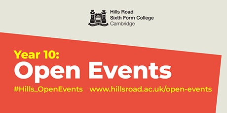 Hills Road Open Event: Purbeck Road entrance. Entry between 1pm to 1.30pm tickets