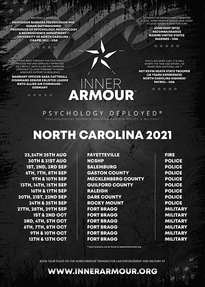 Inner Armour®Psychology Deployed® Defence Training (FORT BRAGG) image