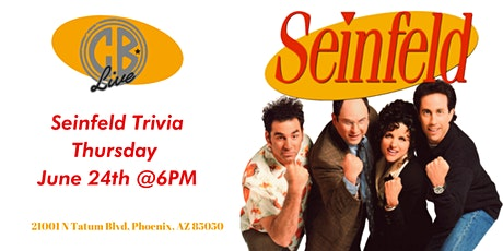 Seinfeld Trivia at CB Live tickets