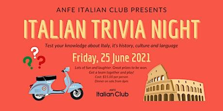 ITALIAN TRIVIA NIGHT tickets