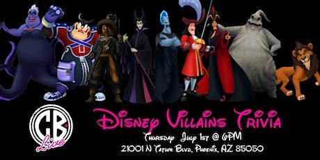 Disney Villains Trivia at CB Live tickets