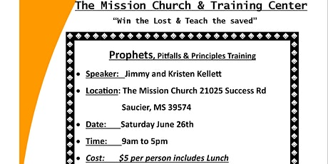 """Prophetic training on """" Pitfalls to avoid and Principles to practice."""" tickets"""