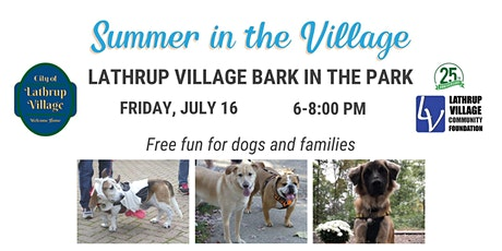 Bark in the Park Vendor Payment tickets