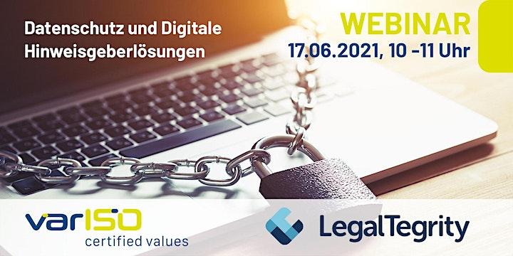 """Webinar """"Datenschutz & Digitale Hinweisgeberlösungen"""": Bild"""