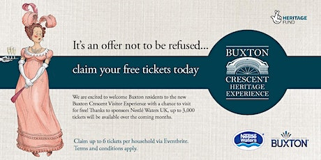 2nd release  - Buxton Crescent Experience - Free tickets for Buxton! tickets