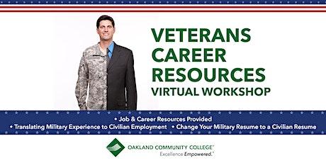 Veterans Career Resources Virtual Workshop tickets