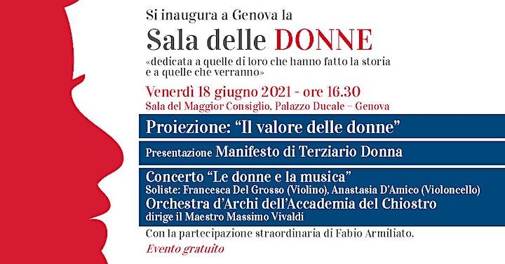 Immagine Sala delle Donne Genova 18 Giugno