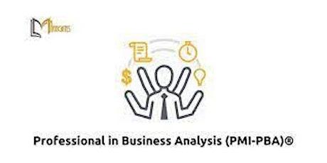 Professional in Business Analysis (PMI-PBA)®4Days Virtual Session-Singapore biglietti