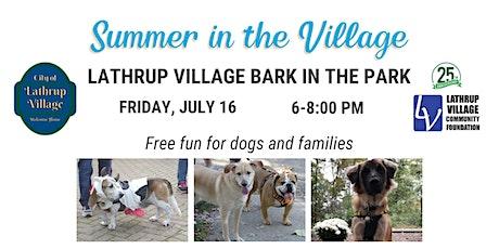Lathrup Village Bark in the Park tickets