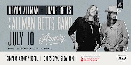 Devon Allman and Duane Betts of the Allman Betts Band tickets