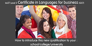 Webinar - Introduce the Certificate in Languages for...