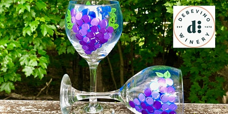 Paint, Sip and Snack Wine Glass Painting Experience at Debevino Winery tickets