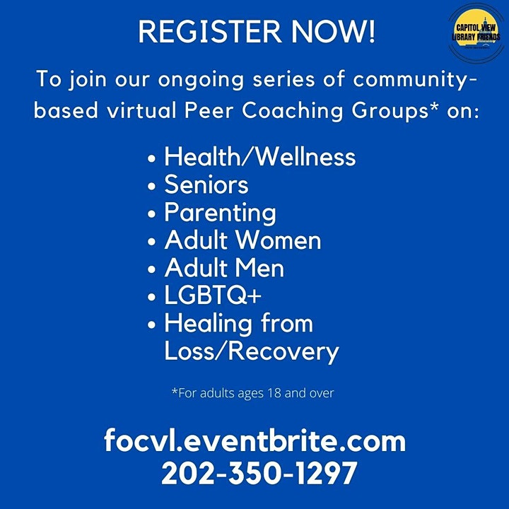 Healing from Loss / Recovery - Peer Support Coaching Group image