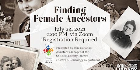 Finding Female Ancestors tickets