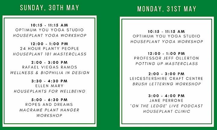 leaf Houseplant Festival - 30th & 31st May 2021 - Market Harborough image
