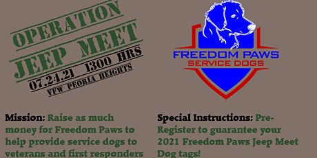Operation Jeep for Freedom Paws tickets