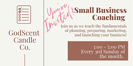 Small Business Coaching for BEGINNERS tickets