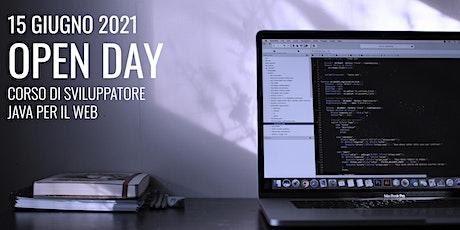 Open Day 2021: Presentazione del corso di Sviluppatore Java per il Web biglietti