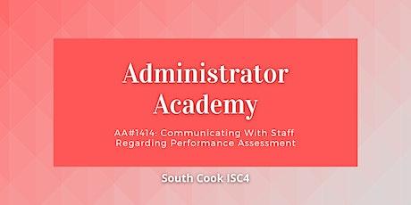 AA #1414: Communicating With Staff Regarding Performance Assessm... (06924) tickets