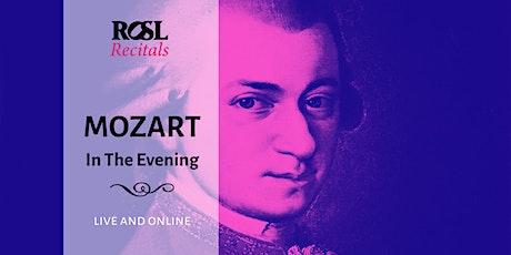 ROSL Recitals: Mozart in the Evening tickets