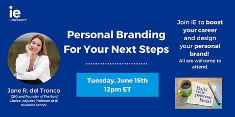 Personal Branding for Your Next Steps - USA & Canada tickets