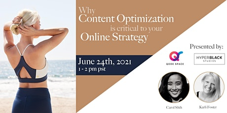 Webinar: Why Content Optimization is Critical to Your Online Strategy biglietti