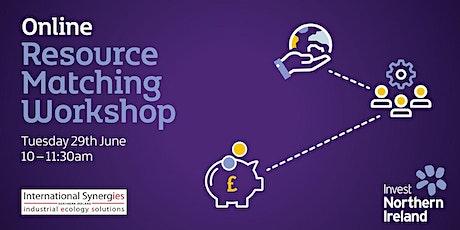 Resource Matching Workshop tickets