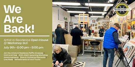 """""""We Are Back!"""" Artist in Residence Open House at Workshop SLC tickets"""