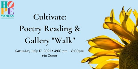 """Cultivate: Poetry Reading and Gallery """"Walk"""" tickets"""