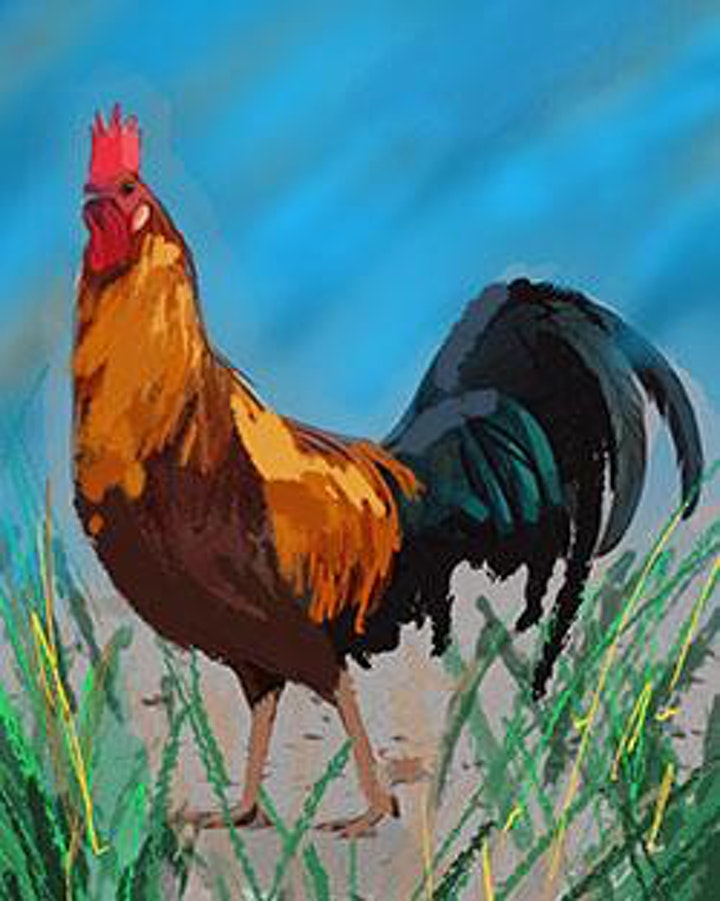 Paint and Party- The Rooster image