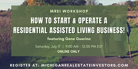 How to start and operate a Residential Assisted Living business! tickets
