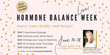 Hormone Balance Week - renew your vitality and energy tickets